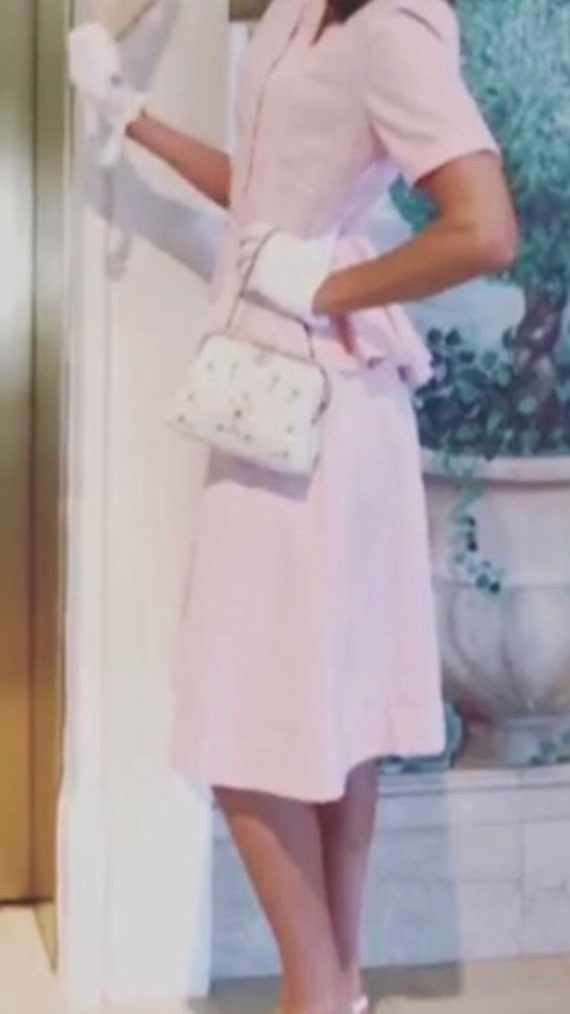 1940s two piece baby pink