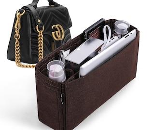 daa8613e25df Customizable Organizer for Gucci GG Marmont top handle bag, Felt Purse  Insert, Cosmetic Makeup Diaper Handbag, Zipped Belongings