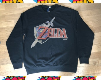 657d92185f3 Nintendo The Legend of Zelda sweatshirt Vintage retro top 90s sweater Men  Size XL