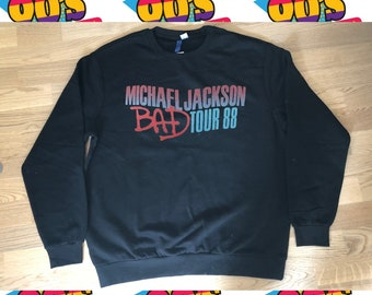 03b6deb269e Vintage 1988 Michael Jackson BAD tour Sweatshirt Size XL