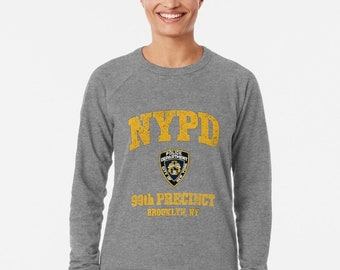 3565c547d brooklyn nine nine new york police Nypd GRAY WOMEN Sweatshirt Jumper retro  sweater Tee Shirts 90s women Slogan Sweatshirt Girl ALL sizes