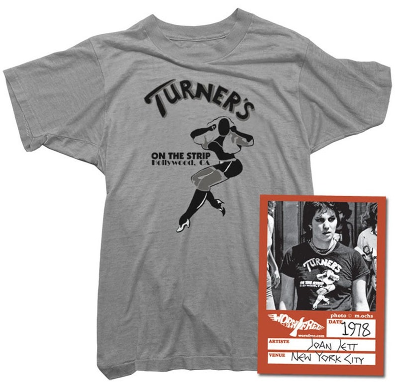 Joan Jett Womens T-Shirt Turner/'s Tee worn by Joan Jett Organic Cotton Officially Licensed