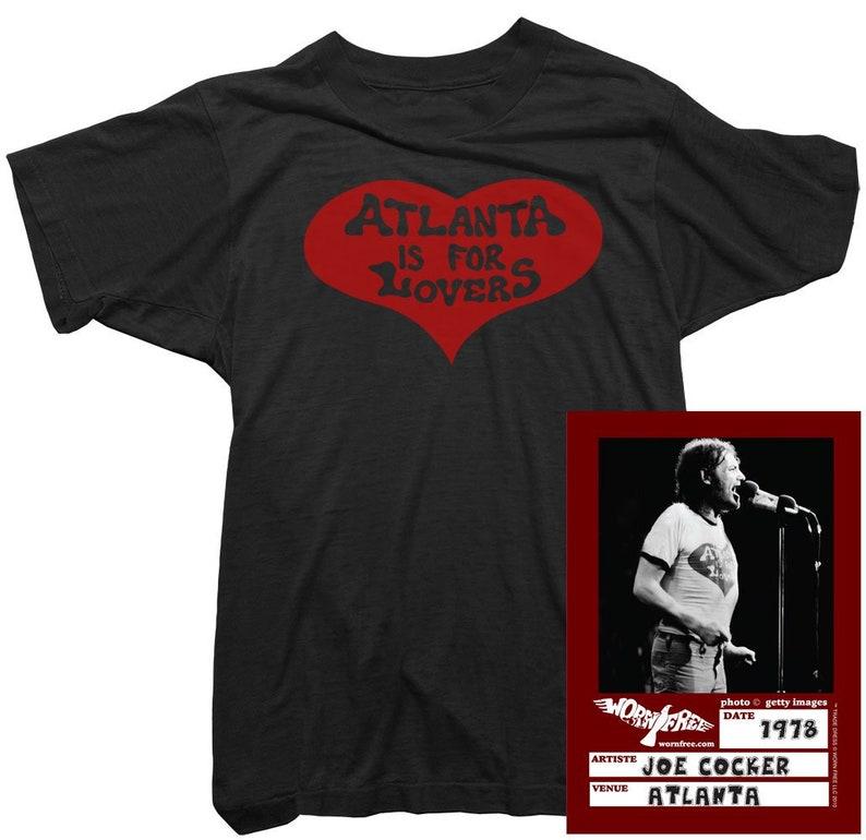 Atlanta Is For Lovers Tee worn by Joe Cocker Organic Cotton Joe Cocker Womens T-Shirt Officially Licensed