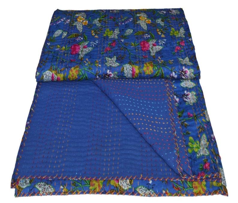 Kantha Bohemian Bedding Decorative Vintage Ethinic. Reversible Bedsheet  Blanket Bird of Paradise Kantha Blanket Indian Kantha Quilt