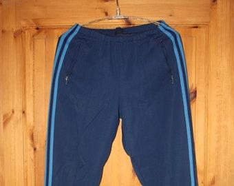 28fbc0ad499e01 Vintage Adidas Jogginghose Trainingshose Track pants 70er 80er blau L XL