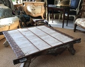 Antique coffee table. Moroccan. 18th century (elephant table) decorative elephant table
