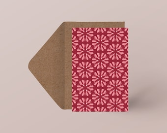 "Postcard ""Flower of Clito"" | Minimalist illustration| Sensual & erotic pattern"