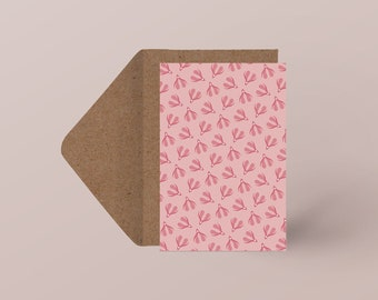 "Postcard ""Spring Madness"" | Minimalist illustration| Sensual & erotic pattern"