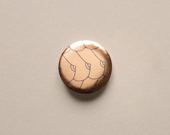"Boobtiful"" brooch | Minimalist illustration pin boob | Sensual & erotic theme"
