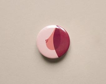 "Brooch ""Seinsationnel"" | Minimalist illustration pin breast | Sensual & erotic theme"