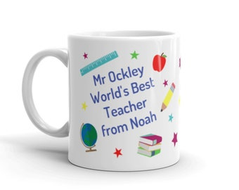 9447a84df9b Teacher / Assistant Mug - Personalised Teachers / TA Thank You Gift - End  of Term Present
