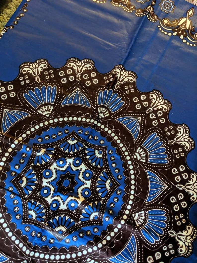 Blue /& White Patterned Chitenge