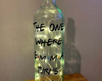 LED Star Light Up Bottles  Decorative Gift For Friends//Beauty and the Beast Fans