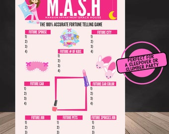 graphic relating to Mash Printable referred to as Mash recreation Etsy