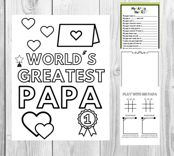 Kid Gift to Goddad All About Godfather Kid Questionnaire INSTANT DOWNLOAD Godfather Birthday Godfather Gift Father/'s Day Gift