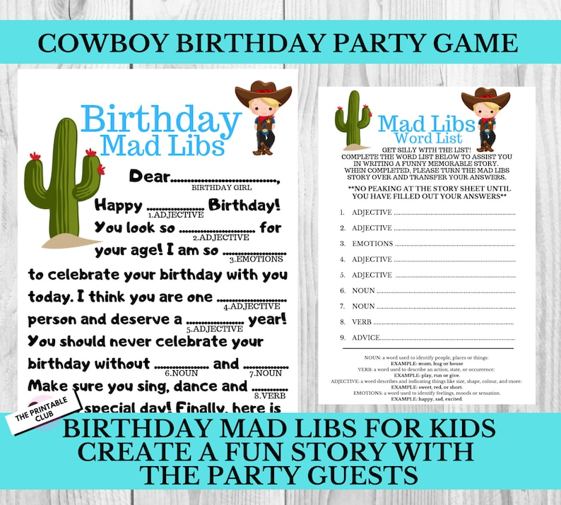 photo regarding Happy Birthday Mad Libs Printable titled Cowboy Birthday Get together, Cowboy Occasion Match, Birthday Ridiculous Libs, Boys Birthday Recreation, Birthday Get together Game, Birthday Bash Video game, Cowboy