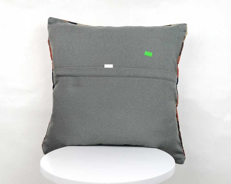 A395 18x18 Geometric Pillow Throw Pillows Kilim Pillow Cushion Cover Sofa Pillow Vintage Pillow Patterned Pillow Vintage Pillow