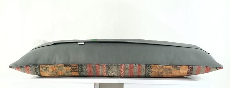 Turkish Kilim Pillow A1095 Cushion Cover 12x36 Bohemian Kilim Pillow Throw Pillow Decorative Kilim Pillow 12x36 Bohemian Pillow