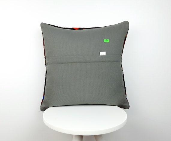 16x16 Bohemian Kilim Pillow Vintage Kilim Pillow Throw Pillow Decorative Kilim Pillow Cushion Cover 008 Handwoven Kilim Lumbar