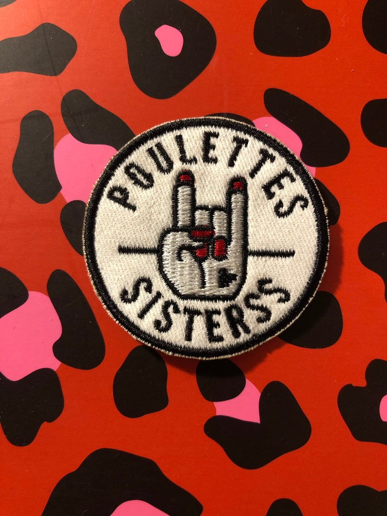 Round embroidered patch Hell Yeah image 0