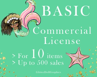 Glitter Doll Graphics Volume Commercial License for 1 Clip Art or Paper Packs No Credit Required Commercial Use Over 500 sales