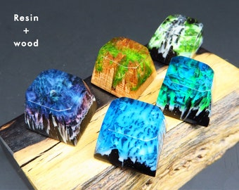 Wood Mini Iceland Artisan Keycaps Key Cap For Cherry Mx Mechanical Keyboard Selling Well All Over The World Computer & Office Keyboards Sa Natural Landscape Handmade Keycap Resin