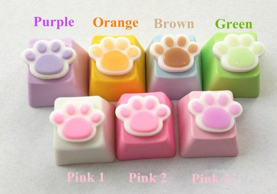 Handmade Mini Cute Cat Paws PBT Dyeing Keycap R4 Keycaps Key Cap for Cherry  MX Mechanical Gaming Keyboard
