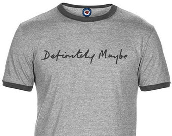 0a381cfb3574 Definitely Maybe Oasis Brit Pop Quality Ringer T-Shirt - 4 Colours
