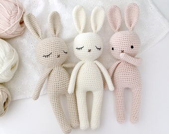 Crochet bunny BABY. Amigurumi Bunny toy for a newborn, toddler or child gift. Newborn photo prop.