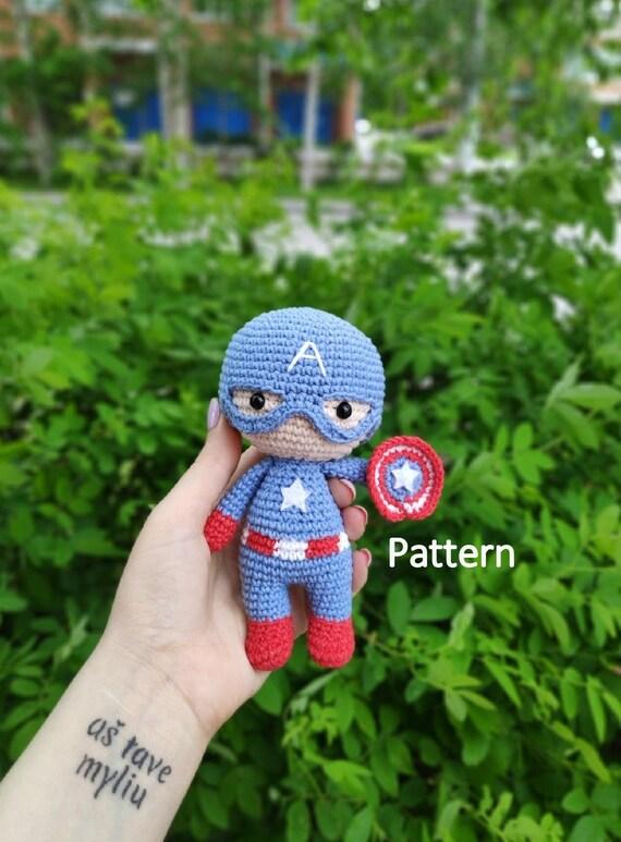 Captain America Amigurumi Pattern – Snacksies Handicraft | 773x570