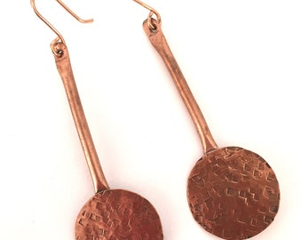 Circle On A Stick Earrings