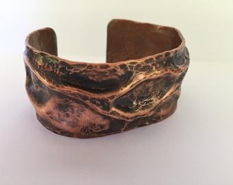 Copper Hammered Bracelet