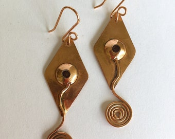 Diamond and Coil Earrings
