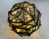 Fractured Stained Glass Orb Ornament