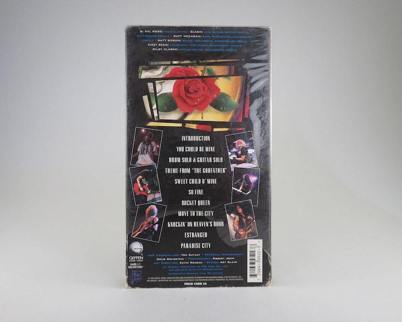 GUNS N' ROSES VHS Tape,