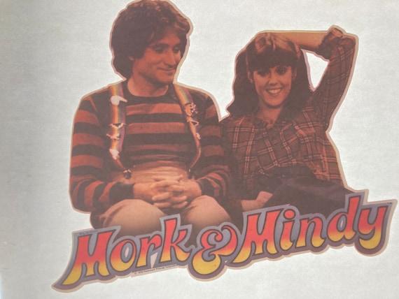 Vintage Mork and Mindy 70s iron on heat transfer … - image 1