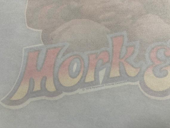 Vintage Mork and Mindy 70s iron on heat transfer … - image 4