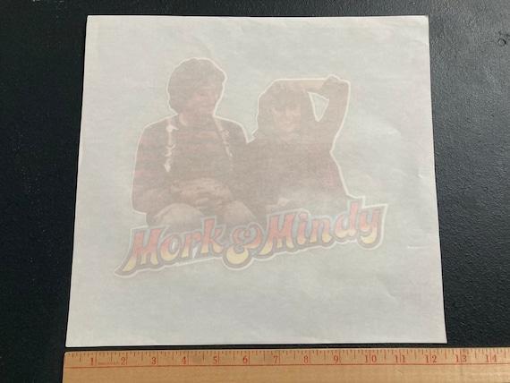 Vintage Mork and Mindy 70s iron on heat transfer … - image 2