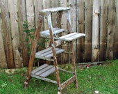 Huge Cupcake Holder Rustic Wedding Rustic Plant Stand Very Unique Ladder Shelf Steps One Of A Kind Amazing Step Ladder Booth Display n More