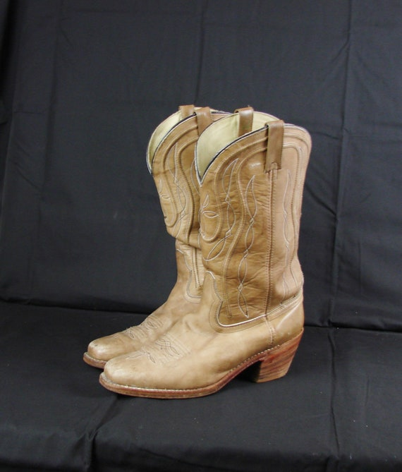 Men's 11D Leather Cowboy Boots / Real Cowboy Worn