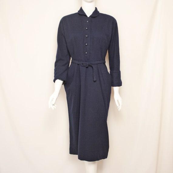 Vintage A.Herzmansky Wien Wool Dress Ritsch zipper