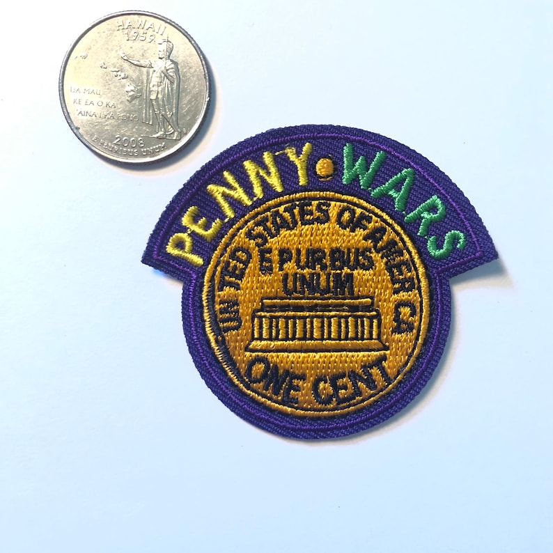 Penny Wars One Cent Fun Embroidered Iron On Patch P5-L