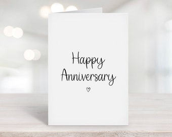 Happy Anniversary Card, Anniversary Gift, Couple Card, Husband, Wife, For Parents, For Him, For Her, Fiance, Boyfriend, Girlfriend, Love