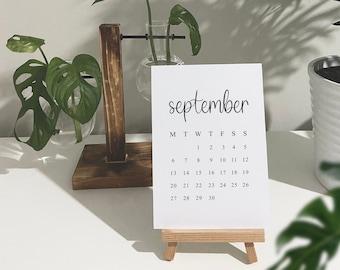 Mini Desk Calendar With Easel, 2021, September Calendar, Back To Work, University, New Job Gift, A6, A5, Office Calendar, 3, 6, 12 Months