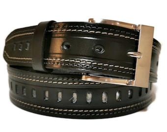 Leather Belt, Belt for Men, Handmade , Leather, Casual Belt , MEN'S BELT, Minimalist, Belt For Jeans,  with Removable buckle, Gift for Him