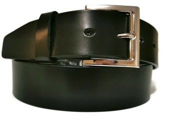 Leather Belt,  Men's Belt, Handmade, Black belt, With Removable Buckle, Casual, Minimalist , For Jeans Gift for Him
