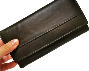 Large Wallet for Woman, Handmade , Wallet for Cards, with zipper, Leather wallet, brown wallet, Gift for Her