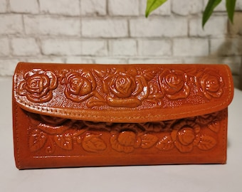 WOMEN'S WALLET, with zipper , Leather, for Cards, large