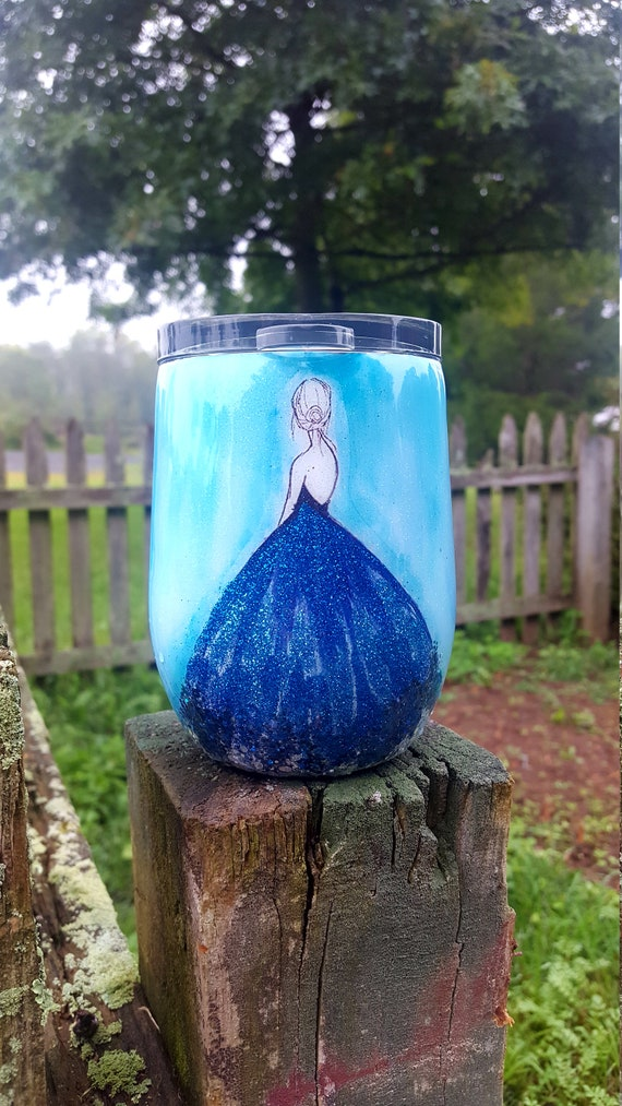 Blue Dress Beverage Tumbler