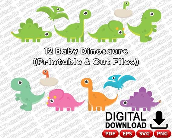 Cute Baby Dinosaur Svg Dinosaur Svg Dinosaur Svg Files Baby Etsy